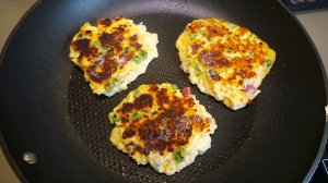Flipped fritters