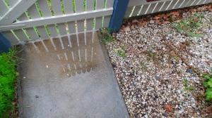 A wet footpath