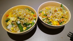 Two bowls of fried rice