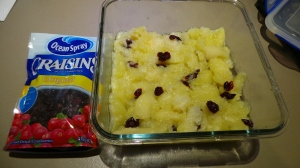 Scatter your apples with craisins for one variation