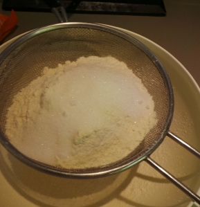 Sift your dry ingredients together