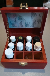 My little stash of essential oils.