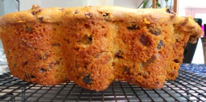 Slice off the muffin top for easy preparation. Use a serrated knife.
