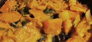 Pumpkin and Prawn Thai Curry