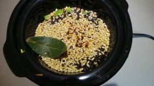 Pearled and black barley.
