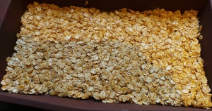 Press half your oats into something that isn't silicon and is preferably metal...