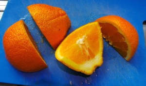 An orange. OMG.