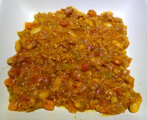 Meat sauce in dish