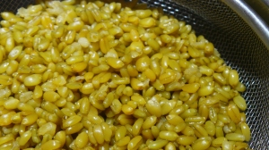 Freshly cooked freekeh.