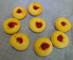 Baked jam drops.